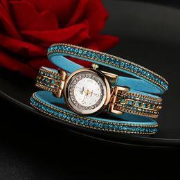 Wholesale Multi Ribbon Bracelet - Duoya Watch Women Brand Luxury Fashion Crystal Rhinestone Bracelet Women Dress Watches Ladies Quartz Wristwatches Free Shipping