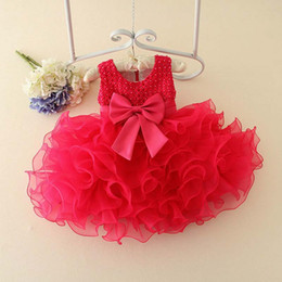 Wholesale Korean Ball Gowns - Baby Dress Birthday Party Dress Princess Dresses Korean Flower Girl Dress 2016 Spring Tutu Dress Children Clothes Kids Clothing Ciao C26612
