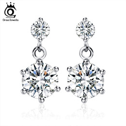 Wholesale Wholesale Sterling Plated Earrings - New Arrival Earring,Elegant Austria Cryatal Earring,S925 Sterling Silver on Platinum Plated,SWA.Elements Jewelry OE34