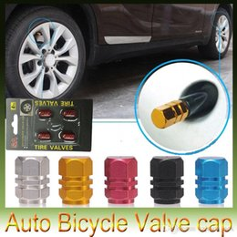 Wholesale Red Valve Stem - Universal Auto Bicycle Car Tire Valve Caps Tyre Wheel Hexagonal Ventile Air Stems Cover Airtight rims Accessories