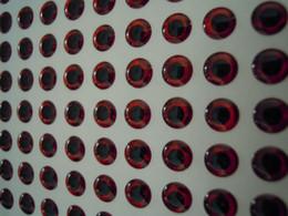 Pupilas dos olhos on-line-4mm 5mm 6mm De Plástico Isca De Pesca olhos Redondos pupila Preto Vermelho 3D Holográfica Lure Olhos Para Jigs Bonecas Artesanato