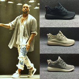 Wholesale Nude Black Women Art Canvas - Kanye Shoes 350 Boost Pirate Black Oxford Tan Turtle Dove Moonrock Men Boots Kanye Sneakers Shoes with Box