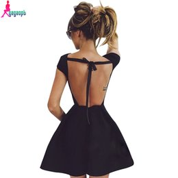 Wholesale Fiesta Sale - Hot Sale Party Night Womens Dress Sexy Bow Open Back Space Cotton Vintage Dress Robe Femme Vestido De Fiesta