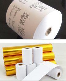 100 рулон / коробка Кассовая бумага 80 мм * 50 мм термобумага pos машина для печати бумага небольшая билетная бумага DHL fast от Поставщики пластиковые дверные тяги