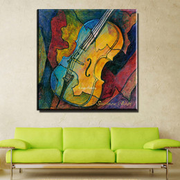 Wholesale Modern Music Paintings - ZZ1003 modern abstract canvas art colorful guitar music canvas pictures oil art painting for livingroom bedroom decoration print