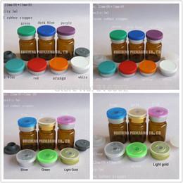 Wholesale Essence Powder - 500 lot 5ml Amber glass vial + flip off cap for essence, cosmetic liquids, powders, medicine use
