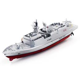 Wholesale Boat Carrier - Wholesale- RC Boat Mini Warship 2.4G 4CH Remote Control Challenger Aircraft Carrier High-Speed Ship For Kids Hobby Toys