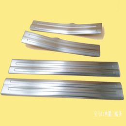 Wholesale Door Sill Bmw - Chrome Stainless Steel Interior Scuff Plate Door Sill For 2009-2013 2014 2015 BMW X1 Welcome Pedal Threshold Strip Car Styling Accessories