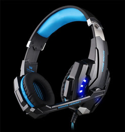 Wholesale Earphones Headphone Usb Computer - KOTION EACH G9000 3.5mm Game Gaming Headphone Headset Earphone Headband with Microphone LED Light for Laptop PS4 Tablet Mobile Phones