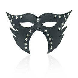 Wholesale Mask Sex Parties - Adult Sex Games Eye Mask Black SM Use Blindnfold Sex Flirting Use Eyemask For Cosplay Party