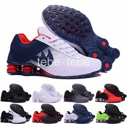 Wholesale Cheap Shoe Laces Free Shipping - 2016 New Shox Deliver #809 Men Running Shoes Cheap Fashion Sneakers Shox Current Top Quality Sport Shoes Size 40-46 Free Shipping