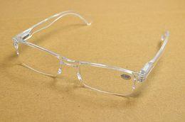 Wholesale Glasses Transparent For Men - 20Pcs lot New Retro Transparent Clear Ultra-light Reading Glasses Plastic Rimless Presbyopia For Women Men Free Shipping