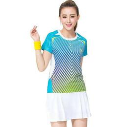 Wholesale New Sportwear Women Clothing - Women badminton t shirt Professional girl sport wear High quality Summer tennis clothing New High quality sportwear
