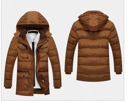 Wholesale Cross Waterproof Jacket - Men's Trench Parka Youth Causal Hooded Cotton Padded Jacket Thicken Coat Male Four Pocket Windproof Waterproof Warm Jacket Men