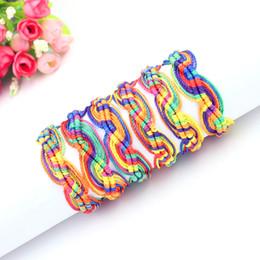 Wholesale Hippie Bracelets - Fashion Hippie Sailor Knot Surfer Woman Bracelets Boho Hemp String Woven Friendship Bracelet Bulk 10 Colors