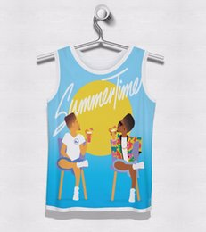 Wholesale Clothing Free Time - Wholesale- Real AMERICAN US size summer time OEM Tank 3D Sublimation Print Custom Made Clothing Plus Size