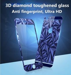 Canada 3D Diamond Mirror Screen Protector FrontBack coloré en verre trempé pour iphone SE 6 6 s plus 5 5 s avec Retailpackage Offre