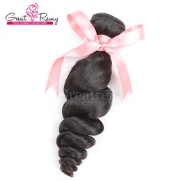 Wholesale Remi Brazilian Hair Weave - 100 Brazilian human Hair Weft Greatremy Hair Product 3bundles Remi Human Hair Weft Loose Wave Drop Shipping Natural Color Dyeable Cheap Hair
