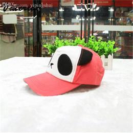 Wholesale Hats Panda Korean - Wholesale-Korean fashion female hat cute cartoon panda baseball cap fitted hats football sun hats for women beach