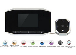 Wholesale Door Peephole Camera Motion Detection - 3.5 LCD Digital Video 4X Zoom 120 Wide angle Auto Door Viewer eye Doorbell Camera Peephole Motion Detection Night vision