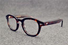 Wholesale Solid Frame Glasses - Sunglasses Frames johnny depp plank frame glasses frame restoring ancient ways oculos de grau men and women myopia eyeglasses frames
