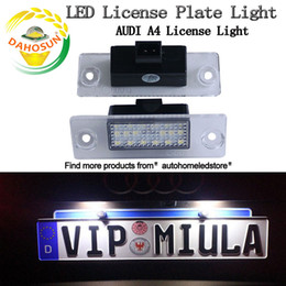 Wholesale Audi License Plates - 2Pcs Error Free Car LED License Number Plate Light Lamps Auto Bulb Rear Light Car Accessories fit for Audi A4 S4 B5 1998-2001