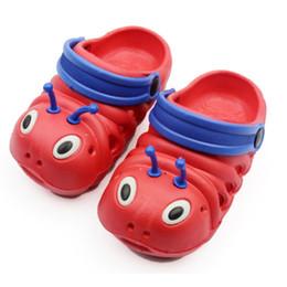 Wholesale Caterpillar Shoes Cartoon - Cute Caterpillar Children Beach Shoes Kids Slippers Baby Boys Girls Antislip Cartoon Cool Slipp Home shoes Wholesale