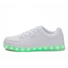 Wholesale Printed Lighters - light shoes luminous shoes unisex sneakers White and black Lighter Mold Prevention USB charging PU material high quality DHL Free shipping