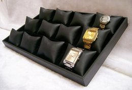 Wholesale Watch Trays - Free Shipping New 2013 Display Jewelry Ideas Bangle Bracelet Watch Display Tray Black Leatherette Jewellery Display Case Holder