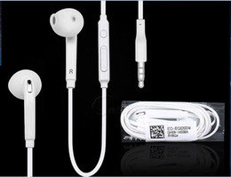 Wholesale Universal Volume Control - For Samsung S6 S7 Stereo Headsets In Ear Earphone with Mic and volume control Headphones for iphone 5S 6S Universal for Android phones