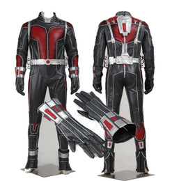 Wholesale Free Character Games - 2016 Hot Superhero Ant-man Cosplay Costume Halloween Sci-Fi Character Costume Carnival For Men Customize Free Shipping