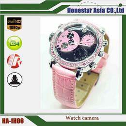 Wholesale Hd Spy Camera Belt - Intellectual belt lady watch camera Full HD 1920*1080 SPY watch camera with night vision function hidden camera watch