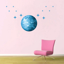 Wholesale Living Earth - Creative luminous stars in Earth + children bedroom decoration wall stickers luminous stars new 2016 European and American fashion