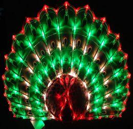 Ehe führte licht dekoration online-Neujahr Laterne Neujahr Dekoration Hochzeit Ehe Raumaufteilung Fenster dekorative Pfau LED Urlaub Garten Rasen Lichter