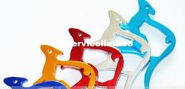 Wholesale Keychain Promotional Gift - Kangaroo shape Metal Bottle Opener Can opener with Keyring Keychain Promotional Gift