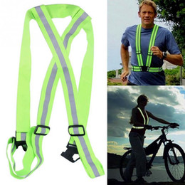 Wholesale Cycling Gear For Women - New Women Man Running High Adjustable Safety Security Visibility Reflective Vest Gear Stripes Jacket for Running - Cycling - Walking