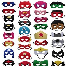 Wholesale Light Blue Superhero - Superhero Christmas Mask For Kids Halloween Party