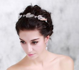 Wholesale Feathers Hair Design - Star Design Luxury Rhinestone Tiaras and Crowns for Wedding Hair Accessories Jewelry 2016 Autumn Wedding Style Hot Sale