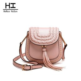 Wholesale Vintage Saddle Bags - 2016 New Arrival Fashion PU Leather Messenger Bags Vintage Bag For Women Solid Shoulder Crossbody Woman Bags B1602