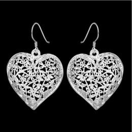 Wholesale Wooden Earrings Studs - New Fashion Women Lady Elegant 925 Sterling Silver Ear Stud Earrings Gift oval earrings wooden earrings cat pearl