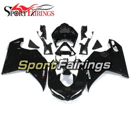 Wholesale Plastic Injection Cover - Gloss Black Fairings For Ducati 1098 848 1198 07 08 09 10 11 12 Injection Plastics Sportbike ABS Fairings Covers Hulls New