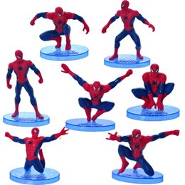 Wholesale Super Hot Models Men - HOT Super Hero Spider-Man Doll Toys Anime Figures the amazing Jouet Spider Man Action Model Action Figures Kid Toys WJ428