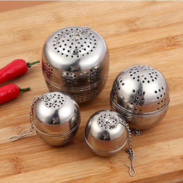 Wholesale Casting Hooks - 4 Size Loose Leaf Tea Ball Infuser Strainer (STAINLESS STEEL) Single Cup with Chain & Hook Mesh Style Filter for Seeping Loose Leaf Teas o