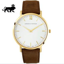 Wholesale Man Vintage Watches Brown - quartz watch men 40mm military steel vintage wristwatch fashion casual quartz watch women sport Couple Watches relogio masculino