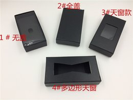 Wholesale Tie Gift Box Packaging - Wholesale Hard Paper Black Package Boxes For Groom Necktie Bow Ties Presentation Box For Bow Ties Gift Package 4 Styles Cheap Sale