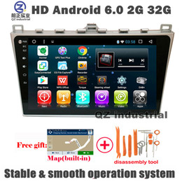 Wholesale Mazda Dvd Android - QZ 10.1inch HD 1024*600 Android 6.0 for MAZDA 6 2012-2014 Car dvd player with 3G 4G WIFI BT SWC GPS Navigation Radio OBD DAB Stereo free map