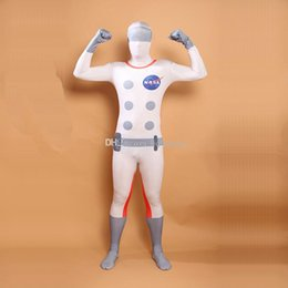 Wholesale Astronaut Cosplay - Astronaut Cosplay Costumes Mulitcolor Lycra Spandex Full Body Zentai Catsuit For Halloween