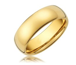 Wholesale Tungsten Rings 8mm - 8mm 18k Gold Plated Domed Tungsten Men Ring Classic Wedding Bands For Her And Him 5pcs lot