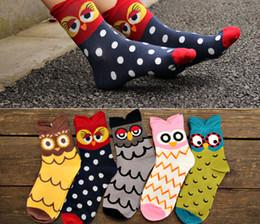 Wholesale Cute Women Girls Socks - Autumn Winter Fashion Socks New Women Cute Owl Print Socks Casual Women Girls Socks Hot Sale 2016 Drop Shipping HJIA1029