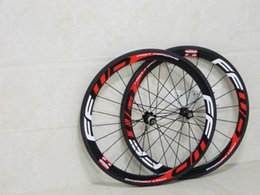 Wholesale Carbon Wheels Novatec - Fast Forward FFWD Carbon Wheels Red Written Clincher 50mm 700C Wheelset Glossy 3k with Novatec hubs